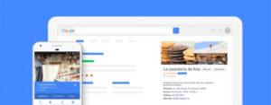 Sitio web en Google my business